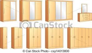 bedroom furniture clipart. bedroom furniture wardrobes commode - csp14013800 clipart #
