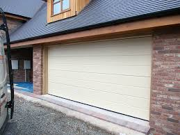 cream sectional garage door