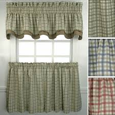 Plaid Kitchen Curtains Valances Kitchen Curtains Window Treatments Touch Of Class
