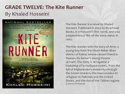 book club presentation  26 grade twelve the kite runnerby khaled hosseini the kite runner