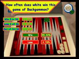 Backgammon Dice Odds Chart Backgammon Dice Odds