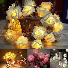 fairy lights ebay uk. 20 led rose flower fairy light wedding party xmas string battery bedroom garden lights ebay uk r