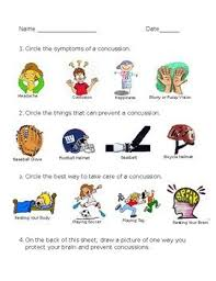 Concussion Grade Chart Concussion Facts And Prevention Worksheet Health Class