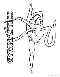 Be sure and come to our. Gymnastics Coloring Pages Rhythmic Gymnastics Ribbon Coloring4free Coloring4free Com