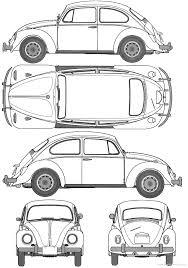 Blueprints > cars > volkswagen > volkswagen beetle 1200 type1 1967
