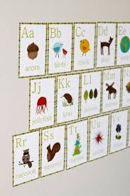 nature alphabet wall cards set of 26