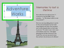 How To Make Your Own Brochure On Microsoft Word How To Make Brochures On Microsoft Word With Pictures