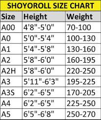 Shoyoroll Gi Size Chart Related Keywords Suggestions