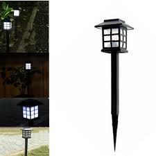 4 pcs hot waterproof cottage style led solar garden light outdoor garden path road lawn post