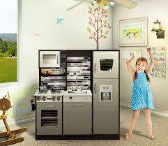 naomi home kids gourmet kitchen set espresso refrigerator pretend play cooking