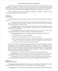Property Purchase Agreement Template Fascinating 48 Sales Agreement Form Template