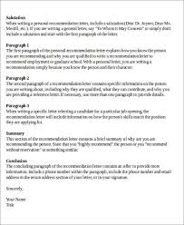 Sample Formal Letter Of Recommendation 8 Examples In Word