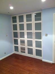 Diy Frosted Glass Door Ikea Hackers Pax Wardrobe Turned Custom Reach In Closets Get Rid
