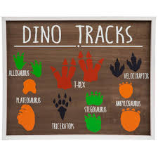 New listing rooster kitchen wall decor set (2) hobby lobby. Dino Tracks Wood Wall Decor Hobby Lobby 1776343