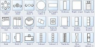 floor plan furniture symbols bedroom. Floor Plan Symbols 3. Adjustable Bed Furniture Bedroom D