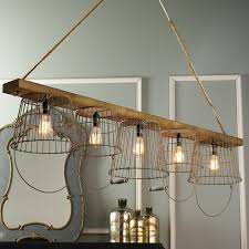 rustic wire basket and wood chandelier rustic wire chandelier rh magiccityrv com french wire basket chandelier vintage wire basket chandelier