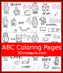 Free printable alphabet coloring pages in lovely original illustrations. Easy To Use Abc Coloring Pages 3 Dinosaurs