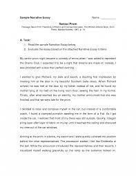 Narrative Resume Sampleculum Vitae For Report Cover Letter Template