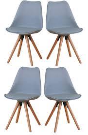 Paket 4er Set Esszimmerstuhl Nelle Küchenstuhl Esszimmer Küche Stuhl Stühle Eiche Grau Dynamic 24de