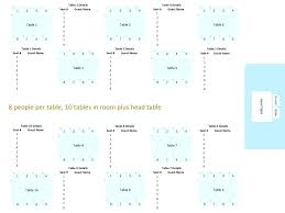 Seating Arrangements For Wedding Receptions Template Round