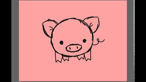 1280x720 how to draw a cartoon piggy d you pig cute drawing pig pictures drawing