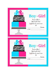 17 Free Gender Reveal Invitation Templates Template Lab