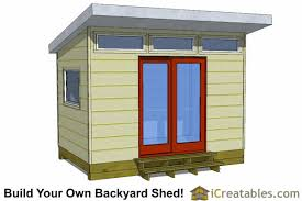 office shed plans. 8x12 Modern Shed Plans Office H