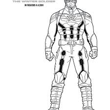 Captain America Winter Soldier Coloring Pages With Free Captain