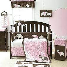 best brown and pink nursery bedding b7767487 baby girl nursery elephant baby girl elephant decor baby