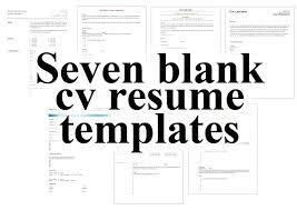 Free Printable Resume Templates Gorgeous Completely Free Resume Template Seven Blank Resume Templates Totally