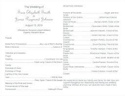 Wedding Reception Program Templates Sample Of Wedding Programs Wording Reception Program