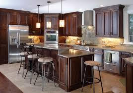 Oak Kitchen Furniture The Charm In Dark Kitchen Cabinets