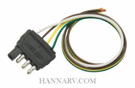 lights and wiring for snowmobile trailer hardware and wesbar 707285 heavy duty 4 way trailer connector 18 inch wires