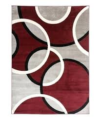 red circles rug contemporary abstract small round