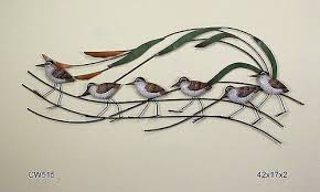 sea birds wall art metal