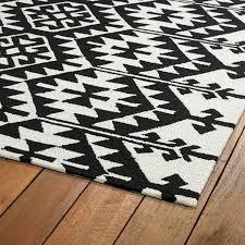 creative black and white tribal rug rugs ideas