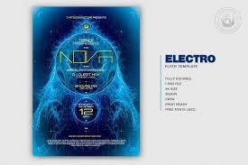 Flyer Poster Templates Electro Flyer Poster Template Dj Club Posters Design For Photoshop