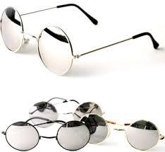 mirror lens. john lennon sunglasses round hippie shades mirror lens retro gold black silver | ebay