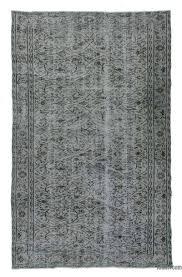 grey over dyed turkish vintage rug 5 x 8 1