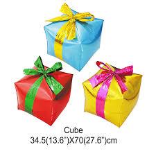 custom gift box cube foil balloons