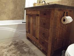 Wood Vanity Bathroom Rustic Shower Design Idea Country Bathroom Vanities Dark Wood