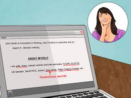 how to write a personal bio samples wikihow