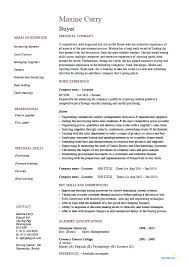 Resume Structure Template Best of Example Basic Resume Buyer Resume Sample Template Example Job