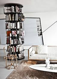 Furniture: Geometric Bookcase With Storage Ideas - Bookcase