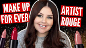 make up for ever artist rouge lipstick review lip swatches