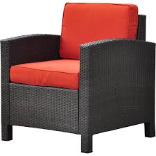 comfortable patio chairs aluminum chair: brayden studioampreg katzer wicker resin aluminum contemporary patio chair with cushion