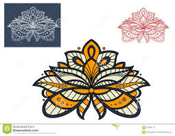 Graphic Design Paisley Persian Paisley Flower Graphic Design Stock Vector