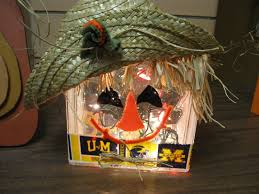 lighted glass block scarecrow 10 00