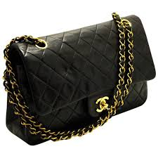 CHANEL 2.55 Double Flap 10  Chain Shoulder Bag Black Quilted Lamb ... & CHANEL 2.55 Double Flap 10