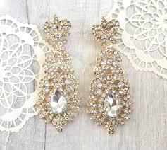 diamante chandelier earrings